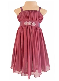 Faye - Chiffon Two-Tone Party Dress
