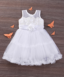 M'Princess Frill Party Dress - White