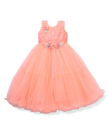 Bluebell Sleeveless Party Wear Gown - Peach