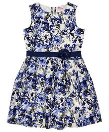 Teeny Tantrums Dress With Rhinestones - Blue