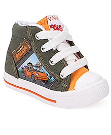 Chhota Bheem Casual Shoes With Lace Tie-Up - Green & Orange