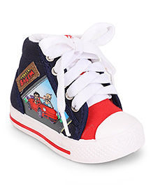 Chhota Bheem Sneakers With Lace Tie-Up - Red & Blue