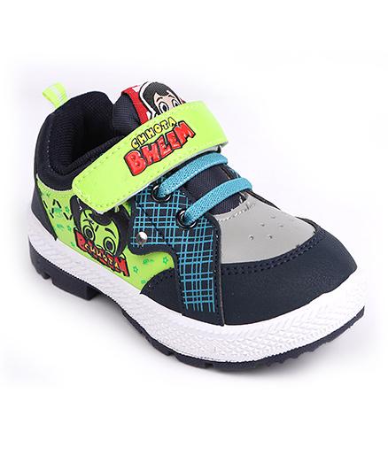 Chhota Bheem Casual Shoes - Navy Blue & Green