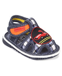 Cute Walk By Babyhug Sandals Car Applique - Blue