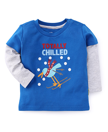 Gini & Jony Doctor Sleeves T-Shirt Totally Chilled Print - Royal Blue