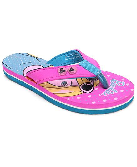 Barbie Flip Flops - Pink And Blue