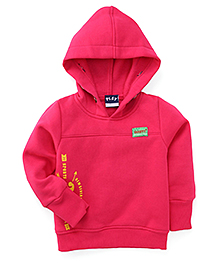Play by Little Kangaroos Full Sleeves Printed Hooded Sweatshirt - Pink