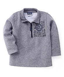 Little Kangaroos Full Sleeves Sweatshirt - Grey