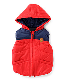 Little Kangaroos Sleeveless Hooded Jacket - Red