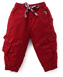 Little Kangaroos Solid Color Pant - Red