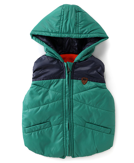 Little Kangaroos Sleeveless Hooded Jacket - Green