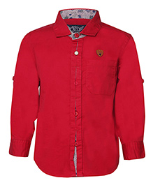 Tales & Stories Stylish Printed Cotton Shirt - Red
