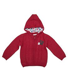FS Mini Klub Full Sleeves Hooded Sweater - Red