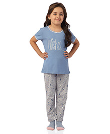 De-Nap Wishes Top & Pajama Set - Blue