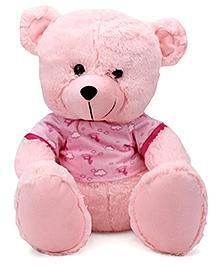 Funzoo Teddy Bear With Muffler Pink - 40 Cm
