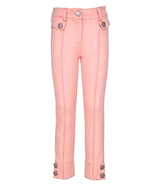 Cutecumber Full Length Solid Colour Trouser - Pink