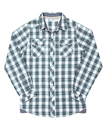 ShopperTree Yarn Dyerd Cotton Shirt Checks Pattern - Blue And White