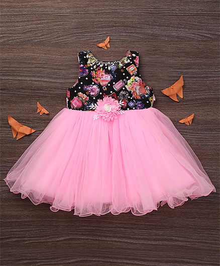 M'Princess Pretty Flower Dress - Pink
