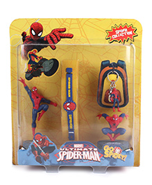 Marvel Spider Man 2 In 1 Figurine With Key Chain And Handband - Red Blue