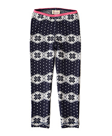 Weedots Full Length Leggings - Navy White