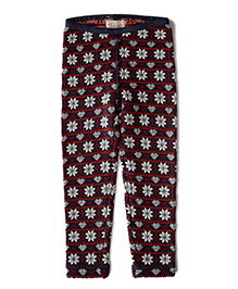 Weedots Full Length Leggings - Red Blue