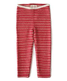 Weedots Full Length Stretch Leggings Aztec Print - Red