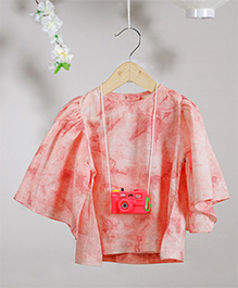 Love The World Today Kawaii Bonsho Tie & Dye Printed Top - Pink