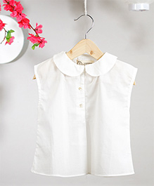 Love The World Today Tsukimi Top - Classic White