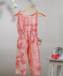 Love The World Today Sakura Fubuki Tie & Dye Printed Jumpsuit - Dull Pink