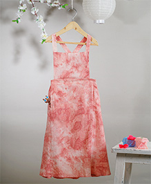Love The World Today Hanami Tie & Dye Printed Dress - Creamish Pink
