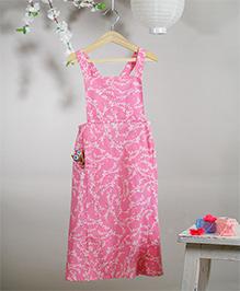 Love The World Today Hanami Hand Block Printed Dress - Pink