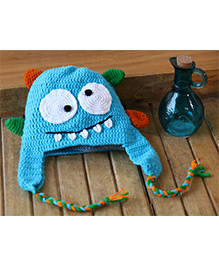 Nappy Monster Crochet Monster Cap - Blue