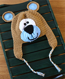 Nappy Monster Bear Cap With Ears - Brown