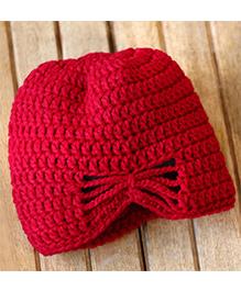 Nappy Monster Crochet Cap - Wine