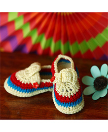 Nappy Monster Loafer Style Booties - Multicolour