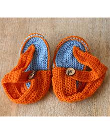 Nappy Monster Ankle Length Sandals - Orange