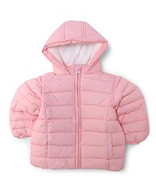 Fox Baby Full Sleeves Hooded Jacket - Pink