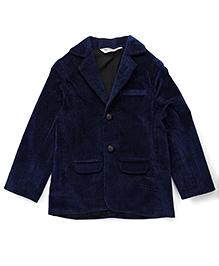 Beebay Full Sleeves Party Jacket - Navy Blue
