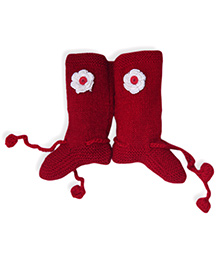 Mayra Knits Christmas Socks - Red