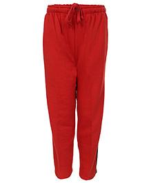 Haig-Dot Open Bottom Track Pant - Red