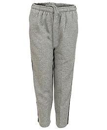 Haig-Dot Open Bottom Full Length Track Pant - Grey