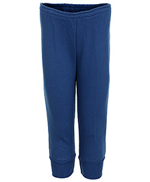 Haig-Dot Fleece Track Pant With Drawstring - Blue