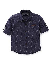Jash Kids Full Sleeves Shirt Star Print - Navy