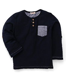 Fox Baby Full Sleeves T-Shirt - Navy Blue
