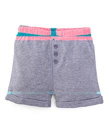 Fox Baby Shorts - Grey And Pink