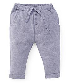 Fox Baby Leggings With Drawstrings - Grey