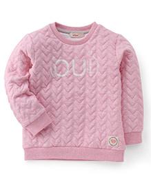 Fox Baby Full Sleeves Winter Wear Top Oui Print - Pink