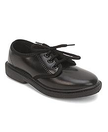 Footfun Lace Up School Shoes - Black