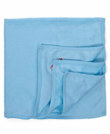 Babyhug Embroidered Towel - Aqua Blue