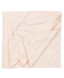 Babyhug Embroidered Towel - Light Peach